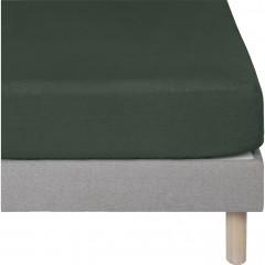 Drap housse en lin 180x200 - coloris vert - VENCE