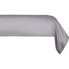 Taie de traversin en coton 43x190cm - coloris gris - CALANQUES