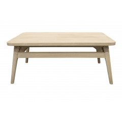Table basse de jardin en teck massif L80 cm - GAFO 408