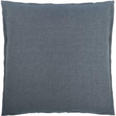 Lot de 2 taies d'oreiller en coton chambray gris 63x63cm - FRIOUL
