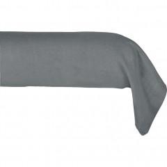 Taie de traversin en lin 45x190cm - coloris gris - VENCE