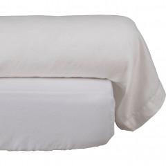 Taie de traversin en lin 45x190cm - coloris blanc - VENCE