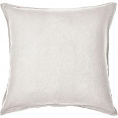 Lot de 2 taies oreiller en lin 65x65cm - coloris blanc - VENCE