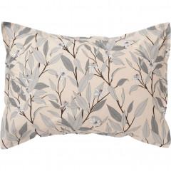 Vue de face - Lot de 2 taies d'oreiller en percale de coton imprimé fleurs 50x70cm - FANNY