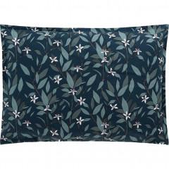 Lot de 2 taies d'oreiller en percale de coton bleu 50x70cm - AZALEE