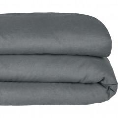 Housse de couette en lin 240x260cm - coloris gris - VENCE