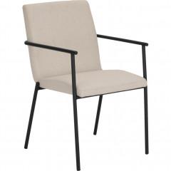 Chaises avec accoudoirs et pieds noirs - JASPE 586