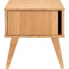 Table de chevet en plaqué chêne - vue de face - BRUNA 482