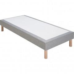 Sommier tapissier 80x200cm gris clair - vue d'angle -SORMIOU 780