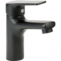 Mitigeur de salle de bain noir - vue d'angle -  EVEL 878