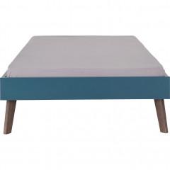 Lit enfant 1 place en bois 90x200cm - bleu figuerolles -  vue de face -SACHA 589
