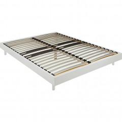 Sommier tapissier blanc alinéa 12,5 cm en kit - 160x200 cm - DECOKIT 111