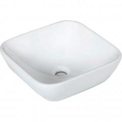Vasque carrée en céramique à poser blanche - VASCA 675