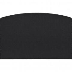 Tête de lit galbée - gris anthracite 190cm - vue de face - CORTIOU 725