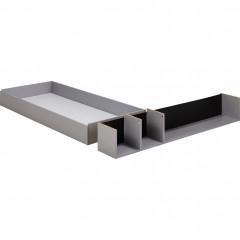 Tiroir et niche 160cm - gris - CASTEL 782