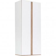 Armoire de dressing 2 portes battantes effet chêne - 2 coloris - NESTOR 098