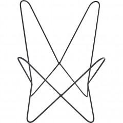 Structure fauteuil en métal noir -  vue de face -BUTTERFLY 643