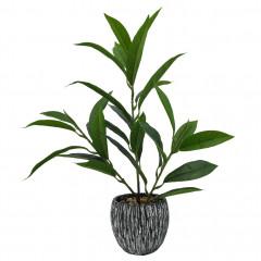 Plante artificielle avec pot et tiges fines Hauteur +/- 38 cm - PEI