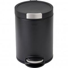 poubelle à pédale en inox - noir 12l - vue de face - FANAL 918
