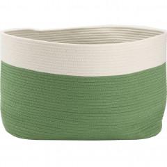 Panier de rangement bicolore oval L55xL30xH35cm - LOUNI 524