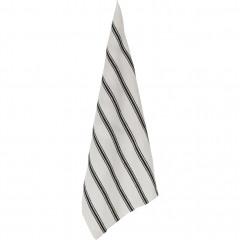 Torchon en lin et coton blanc et noir - PASSO 301