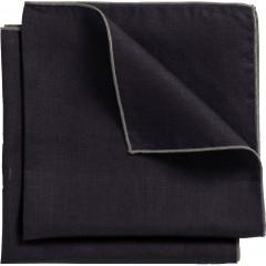 Lot de 2 serviettes de table 41x41cm en lin et coton - noire - MILA
