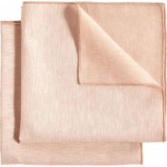 Lot de 2 serviettes de table 41x41cm en lin et coton - rose - NOLA