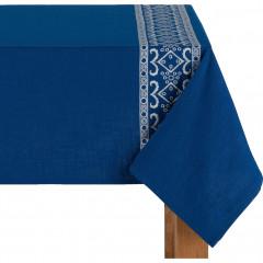 Nappe en coton bleu 170x250cm - BOLSA 200