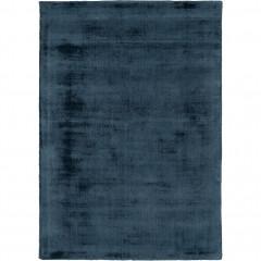Tapis moiré en viscose 160x230cm - vue de face - bleu - EDEN 030