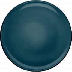 Lot de 2 assiettes à dessert en faïence D20cm - bleu -  LANKA