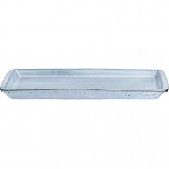 Plat à four en grès bleu 30,5x10,5cm - ADAM 681