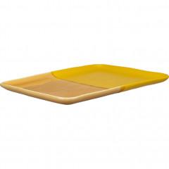 Plateau rectangulaire en grès jaune - vue d'angle - KARNAK 620