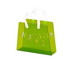 Porte-revues sac plexiglass vert - BAG