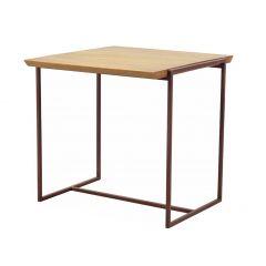 Table bout de canapé pin massif métal - NORDIK