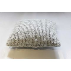 Coussin blanc polaire style tricot - SWEDEN