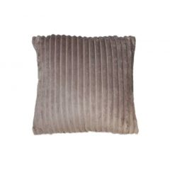 Coussin lumineux effet velours Taupe - FUR