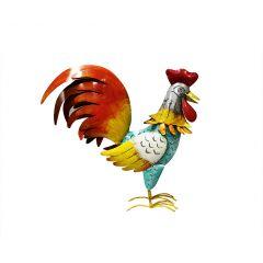 Photophore coq en métal multicolore - CHICKY