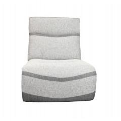 Canapé modulable - Chauffeuse fixe grise - ATLANTA