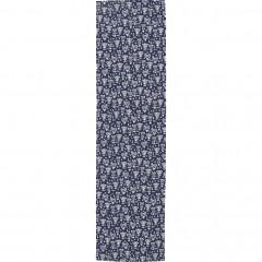 Toile pour chaise chilienne en bois de jardin bleu motifs blanc - UDINE 369