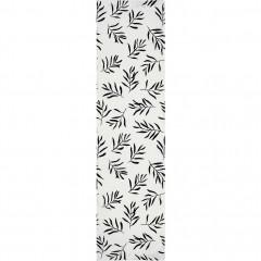 Toile pour chaise chilienne en bois de jardin blanc motifs noirs - ALOYSE 345