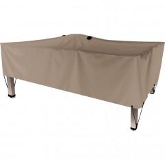 Housse de protection pour table beige L200xP130xH60cm - RIANS 686