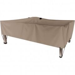 Housse de protection pour table beige L240x130xH60cm - RIANS 693