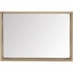 Miroir rectangulaire de salle de bain en chêne 80cm - vue de face - NATIVE 153