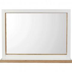 Miroir blanc L74xH54cm - vue de face - MUGEL 524