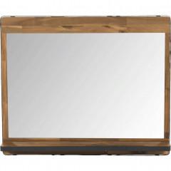 Miroir rectangulaire de salle de bain en bois et métal 90cm - vue de face - KOTA 156
