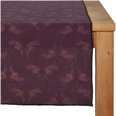 Chemin de table en lin et coton violet 50x150cm - ATOSIA 188