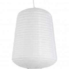 Suspension ovale en papier D40xH50cm - 2 coloris - Coloris blanc - ALOU