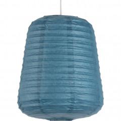 Suspension ovale en papier D27xH32cm - 2 coloris - Coloris bleu - ALOU