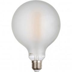 Ampoule LED verre dépoli D12cm blanc chaud culot E27 - GLOBE 879