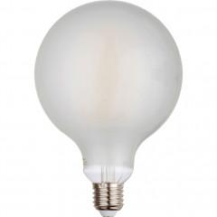 Ampoule LED verre dépoli D12cm blanc froid culot E27 - GLOBE 886